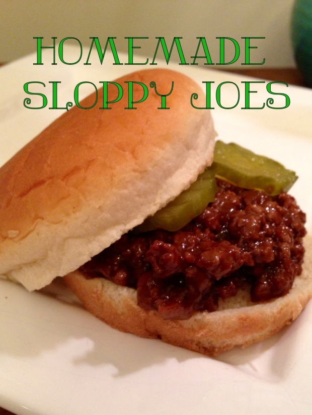 Homemade Sloppy Joes |Poore Amy
